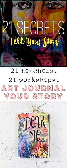 21 SECRETS: Tell Your Story Online Art Journaling – Fox + Hazel – Dawn Nicole – art therapy activities Art Therapy Activities, Counseling Activities, Group Activities, Bullet Art, Online Art Classes, Art Journal Inspiration, Journal Ideas, Artist Sketchbook, Art Journal Techniques