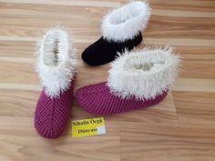 Crochet Slipper Pattern, Crochet Shoes, Crochet Slippers, Knitting Socks, Hand Knitting, Baby Knitting Patterns, Crochet Patterns, Crochet Baby Sweaters, Beautiful Crochet