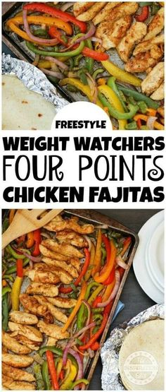 Weight Watchers 4 Point Healthy Chicken Fajitas · The Inspiration Edit Here is a healthy sheet pan chicken fajitas recipe which is family friendly and easy to make. This easy weight watchers chicken fajitas recipe is super low Poulet Weight Watchers, Weight Watchers Plan, Weight Watcher Dinners, Weight Watcher Recipes Easy, Weight Watchers Enchiladas, Weight Watchers Motivation, Weight Watchers Appetizers, Weight Watchers Lunches, Chicken Fajita Rezept