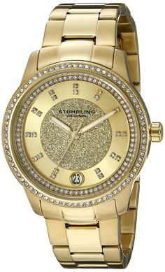 Stuhrling Original Women's 794.02 Symphony Analog Display Quartz Gold Watch >>> See this great watch.