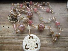Priestess of Brighid, brighid rosary, brighid prayer beads, priestess rosary, priestess prayer beads, pagan prayer beads, pagan rosary by MagickAlive on Etsy