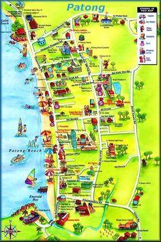 Phuket-Maps/Phuket-Karten: Patong-Beach - www.itraveleh.com