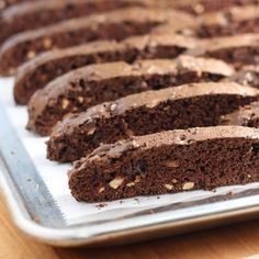 Double Chocolate Almond Biscotti - The easiest cookie you will ever make!