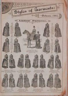 1888 Antique BUTTERICK PATTERN CATALOG Victorian Fashion Riding Habits Dresses