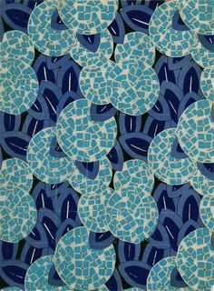 Love the shades of blue in this pattern