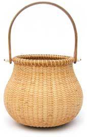 "Nantucket Pot Belly Basket   6"" x 5"" w/o handle"