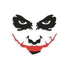 Based on Joker story Joker Embroidery design Custom Embroidery, Embroidery Files, Machine Embroidery Designs, Embroidery Patterns, Embroidery Machines, Joker Logo, Art Blanc, Wal Art, Joker Face