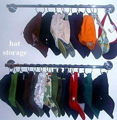 hat storage organize hats wall mount hat rack hat organization - Creative Hat Racks