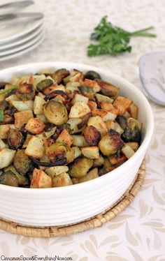 Roasted Hash Brown Brussels Sprouts