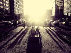 Sunset at Potsdamer Platz