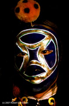 China 1957: Beijing Opera Leopard Soldier Blue & Gold (c) Robert Carl Cohen
