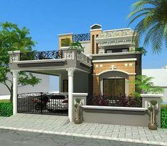 2 Storey House Design, Duplex House Design, House Front Design, Small House Design, Porch Elevation, Front Elevation Designs, Building Layout, Building Front, Building Plans