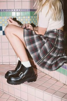 plaid skirt #pixiemarket #fashion #womenclothing @pixiemarket
