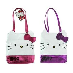 832583b088c4 Hello Kitty Die Cut Tote Pink or purple     Be sure to check out