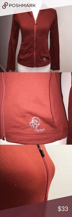 """Patagonia red long sleeve hoodie Brick red hoodie, in good condition. There's slight pilling from normal wear. The material is very good quality, soft and stretchy.    Approximate measurements: Total length - 20 1/2"""" Armpit to armpit - 17"""" Sleeve length - 24""""  JB1021 Patagonia Jackets & Coats"""