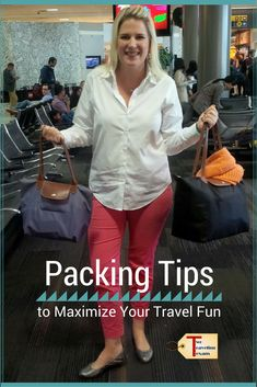 Suggestions on how to be more efficient when packing for a trip so that you maximize your fun! | Packing Tips for Vacation | Packing Hacks via @2travelingtxns #packingtips #packinglight #traveltips #howtopacklight #carryontravel