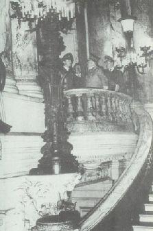 Inside the Opera Garnier...perhaps talking about the Phantom of the Opera?