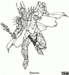 sauron the dark lord and the first lord of the rings coloring page love - Hobbit Dwarves Coloring Pages