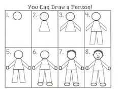 New Pics person drawing people Suggestions : If perhaps finding out how to sketch can be something you've got always aspired to complete, or you happen to be plan Kindergarten Drawing, Teaching Drawing, Drawing Lessons, Drawing Techniques, Teaching Art, Drawing Tips, Art Lessons, Kindergarten Teachers, Drawing Ideas