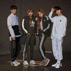 Image may contain: 4 people, people standing and shoes Kpop Couples, Cute Couples, Jikook, Bts Girlfriends, Boy And Girl Friendship, Chat Kawaii, Korean Best Friends, Foto Jimin, Bts Pictures