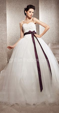 Tulle Ball Gown Sweetheart Chapel Train Wedding Dress inspired by Kate Huds in Bride Wars