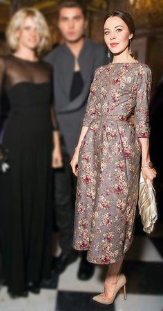 Ulyana in Ulyana Sergeenko Spring 2012 dress