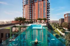 First homes overlooking a spectacular glass sky pool  #propertybusiness propertystartup  http://qoo.ly/gybfm