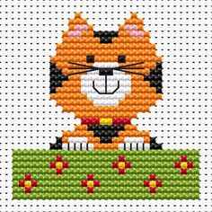 Sew Simple Cat cross stitch kit [SS-CA] Ideal for beginners however please ensure young stitchers are supervised.  These kits introducing symbols on to charts, but still with colour blocks, for those who are learning how to cross-stitch. Finished size approx 6.9cm x 6.9cm. Kit contains11ct white aida fabric, stranded embroidery cotton, needle, colour chart and instructions. A brand new kit will be sent directly to you by Fat Cat Cross Stitch - usually within 2-4 working days © Fat Cat Cr…