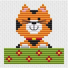 Sew Simple Cat cross stitch kit