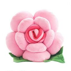 Plush rose decorative sofa pillow flower car pillows