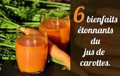 Les bienfaits étonnants du jus de carottes