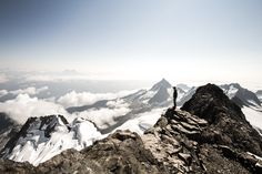 At the summit of Mount Dione, Tantalus Range, BC, Canada.