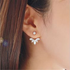 Double Sided Flower Earrings