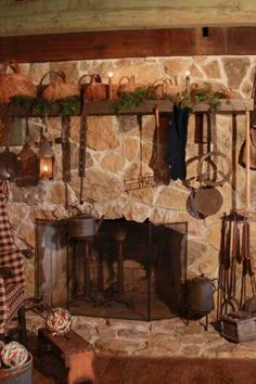 I love open hearth fireplaces. That's what I want someday.