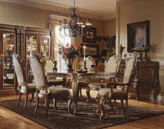 Lovely Royale Dining Room Furniture Set In Elegant Design Photo
