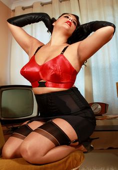 red satin bullet bra