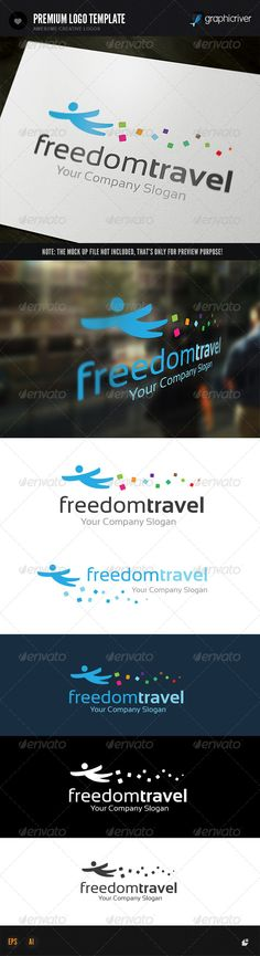 Freedom Travel	 Logo Design Template Vector #logotype Download it here: http://graphicriver.net/item/freedom-travel-logo/8330490?s_rank=153?ref=nexion