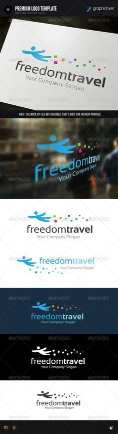 Freedom Travel Logo  #graphicriver
