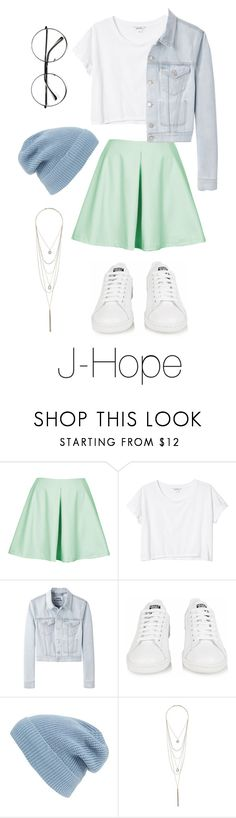 """""""J-Hope Inspired: Pastel"""" by btsoutfits ❤ liked on Polyvore featuring Oh My Love, Monki, Acne Studios, adidas, Phase 3, Wallis and Retrò"""