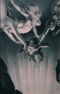 View album on Yandex. Fantasy Demon, Demon Art, Dark Fantasy Art, Dark Art, Pulp Fiction Art, Pulp Art, Vikings, Richard Wagner, Pop Art Drawing