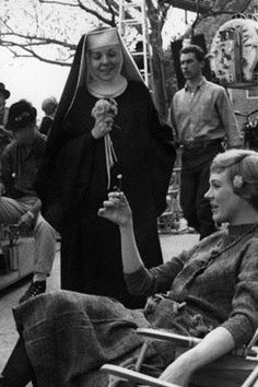 Behind the scenes - The Sound of Music. And there's Anna (Lila Q) from General Hospital fame.