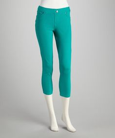 Take a look at this Spearmint Skimmer Crop Pants by Seven7 on #zulily today!