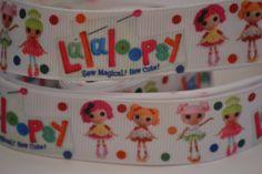 "Lalaloopsy Ribbon, 5 yard and 7/8"" wide, Hair Bow Ribbon, Scrapbook Ribbon, Grosgrain Ribbon, Nick Jr. Ribbon by LusterClusterHairbow on Etsy"
