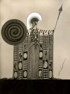 """""""Athéna""""  Art by Erté. (1892-1990)."""
