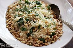 Garlic Basmati Rice with Pine Nuts