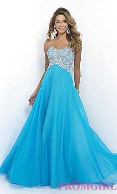 Long Strapless Sweetheart Dress by Blush at PromGirl.com