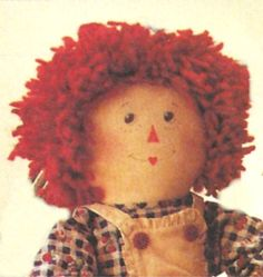 McCall's 8551 and 6317 Raggedy Ann & Andy Doll