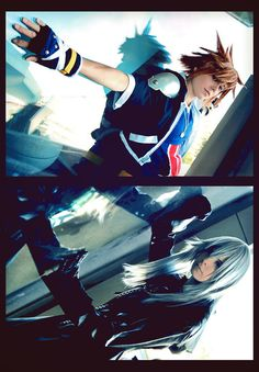 An old picture of us, which Akane already uploaded last year. I changed it a little bit and want to have it in my gallery as well because I really like . - Sora and Riku Kingdom Hearts Cosplay, Kingdom Hearts Characters, Kingdom Hearts 3, Cosplay Costumes, Cosplay Ideas, Sora, Old Pictures, My Friend, Charity