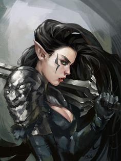 "sekigan: "" elf warrior by sbalac on DeviantArt """