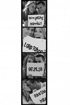 save the date photo strip.. the only time an std has ever made me smile.